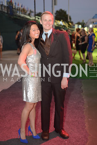 Jeanette Lee, Bill Moran, Walk This Way Fashion Charity Event, Kastles Stadium at the Wharf, Photo by Ben Droz.