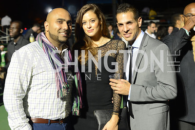 Azam Mirza, Charlotte Thomas-Magnin, Piero Spada, Walk This Way Fashion Charity Event, Kastles Stadium at the Wharf, Photo by Ben Droz.