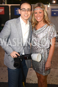 Daniel Swartz, Maggie O'Neill, Walk This Way Fashion Charity Event, Kastles Stadium at the Wharf, Photo by Ben Droz.