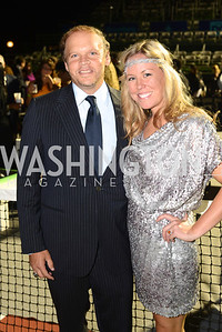 Mark Ein, Maggie O'Neill,  Walk This Way Fashion Charity Event, Kastles Stadium at the Wharf, Photo by Ben Droz.