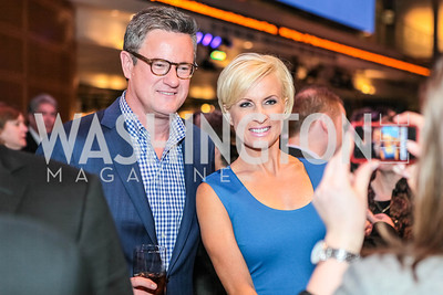 Joe Scarborough, Mika Brzeniski. Washington, DC premiere screening of the HBO Film GAME CHANGE with Julianne Moore‏. The Newseum. March 8, 2012.