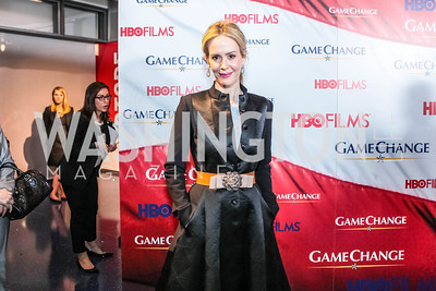 Sarah Paulson. Washington, DC premiere screening of the HBO Film GAME CHANGE with Julianne Moore‏. The Newseum. March 8, 2012.
