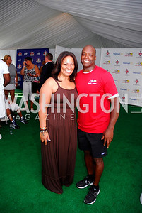 Jewel Green, Darrel Green,July 17,2012,Washington Kastles Charity Kick Off,Kyle Samperton