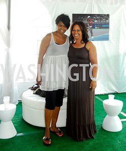 Cynthia Fuller,Jewel Green,July 17,2012,Washington Kastles Charity Kick Off,Kyle Samperton