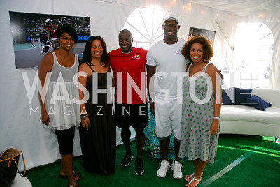 Cynthia Fuller,Jewel Green, Darrel Green,Rocky McIntosh,Alessia McIntosh,July 17,2012,Washington Kastles Charity Kick Off,Kyle Samperton