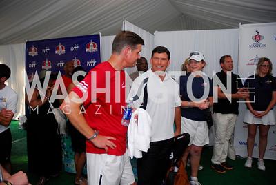 Peter Cook, Bret Baier,July 17,2012,Washington Kastles Charity Kick Off,Kyle Samperton
