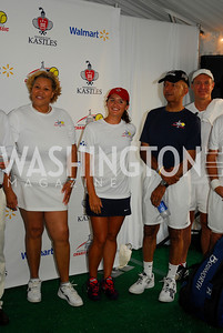Yevette Ellington Alexander, Arina Rodionova, Anthony Williams, Evan Bayh, July 17,2012,Washington Kastles Charity Kick Off,Kyle Samperton