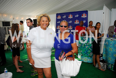 Yvette Ellington Alexander,Diane Williams,July 17,2012,Washington Kastles Charity Kick Off,Kyle Samperton