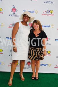 Eboeny Harris,Debbie Shore,July 17,2012,Washington Kastles Charity Kick Off,Kyle Samperton