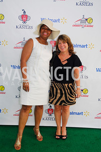 Eboeny Harris,Debbie Shore,July 17,2012,Washington Kastles Charity Kick Off,Kyle Samperton