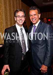WPAS President Neale Perl, Brian Stokes Mitchell. WPAS Gala. Photo by Tony Powell. Marriott Wardman Park. April 21, 2012