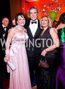 Grace Bender, Carlos and Edilia Gutierrez. WPAS Gala. Photo by Tony Powell. Marriott Wardman Park. April 21, 2012