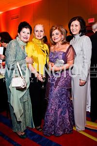 Judith Terra, Judy Esfandiary, Annie Totah, Keiko Kaplan. WPAS Gala. Photo by Tony Powell. Marriott Wardman Park. April 21, 2012