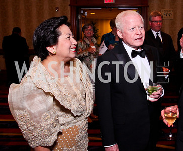 Vicky Cuisia and Philippines Ambassador Jose Cuisia. WPAS Gala. Photo by Tony Powell. Marriott Wardman Park. April 21, 2012
