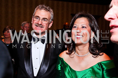 Murray Horwitz, Tina Mather. WPAS Gala. Photo by Tony Powell. Marriott Wardman Park. April 21, 2012