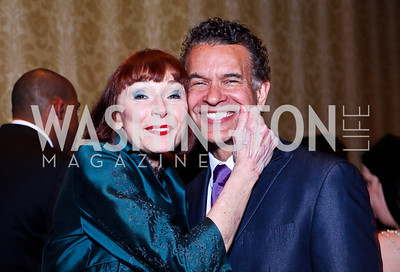 Karen Aker, Brian Stokes Mitchell. WPAS Gala. Photo by Tony Powell. Marriott Wardman Park. April 21, 2012