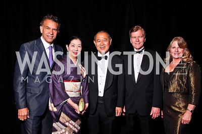 Brian Stokes Mitchell, Yoriko and Amb. of Japan Ichiro Fujisaki, VA Governor Bob and Maureen McDonnell. WPAS Gala. Photo by Tony Powell. Marriott Wardman Park. April 21, 2012