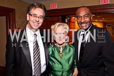 Neale Perl, Josephine Cooper, Reginald Van Lee. WPAS Gala. Photo by Tony Powell. Marriott Wardman Park. April 21, 2012