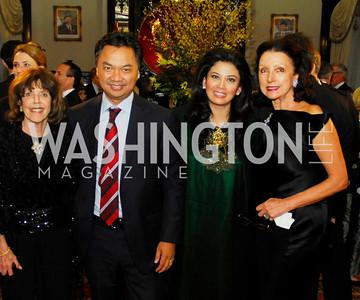 Didi Cutler,Ambassador Dino Djalal,Rosa Djalal,Aniko Gaal Schott,,March 20,2012,Young  Concert Artists Gala Dinner At The Embassy Of Indonesia,Kyle Samperton