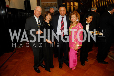 Walter Cutler,Didi Cutler,Ambassador Dino Djalal,Annie Totah,March 20,2012,Young  Concert Artists Gala Dinner At The Embassy Of Indonesia,Kyle Samperton