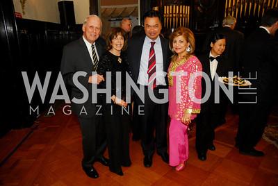 Walter Cutler,Didi Cutler,Ambassador Dino Djalal,Annie Totah,March 20,2012,Young  Concert Artists Gala Dinner At The Embassy Of Indonesia,Kyle Samperton