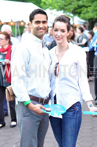 Ramesh Meanger, Nicole Hurst.  Zoofari at the National Zoo.  May 17, 2012.  Photo by Ben Droz