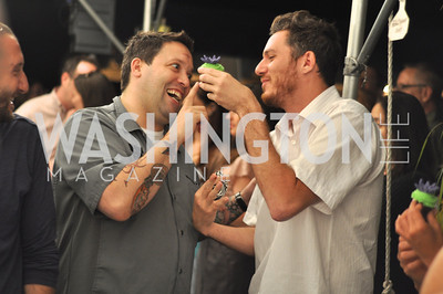 Mike Isabella and Spike Mendelsohn.  Zoofari at the National Zoo.  May 17, 2012.  Photo by Ben Droz