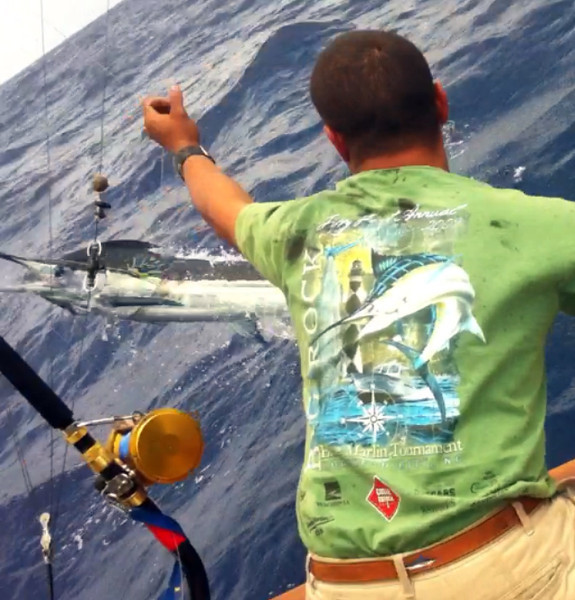 TUESDAY WINNER!<br /> Blue marlin release submitted by Steven Kirby, Reel Dreams.