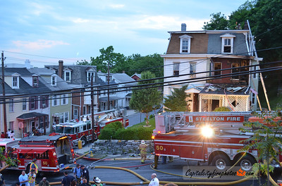 May 16, 2012, Steelton, PA - Firefighters quickly knocked down a fire in an occupied, duplex at 103 Lincoln Street that broke out shorly before 1930 hours.