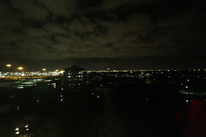 Day 66 - 6 March 2012<br /> Brite Lights - Big City<br /> The lights of Austin Texas off in the distance.  Enough light to provide some lights to the clouds.