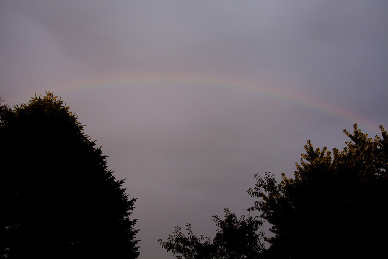 Day 246 - 3 September 2012<br /> A rainbow right at sunset this evening.