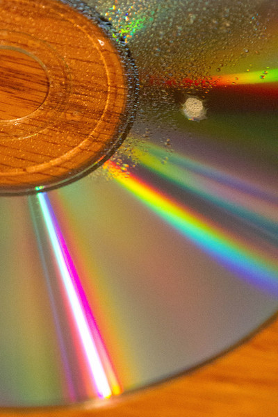 Day 42 - 12 February 2012<br /> Colors of the spectrum reflecting off of a CD