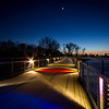 Day 26 - 26 January 2012 Kruidenier Trail Bridge Lighting uses Di-Chromatic Glass to Provide the Colors that Light the Walkway