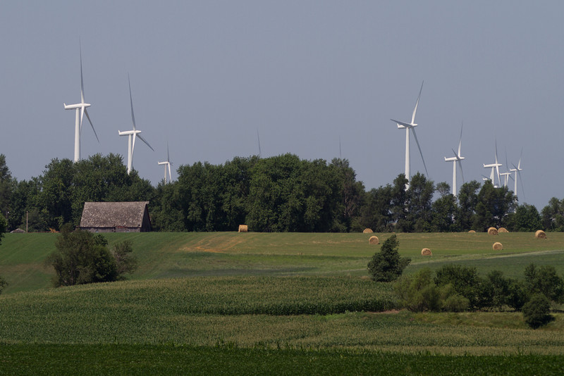 Day 189 - 7 July 2012<br /> Did you know that we grow wind energy along with the hay, beans and corn here in Iowa?