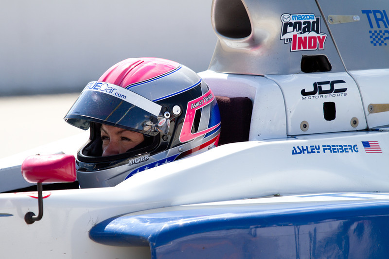 Day 174 - 22 June 2012<br /> Eyes of determination - Ashley Frieberg in the Mazda Star Series as part of the Road to Indy.