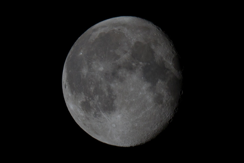 Day 129 - 8 May 2012<br /> Didn't get the moon at it's peak but caught it this morning.