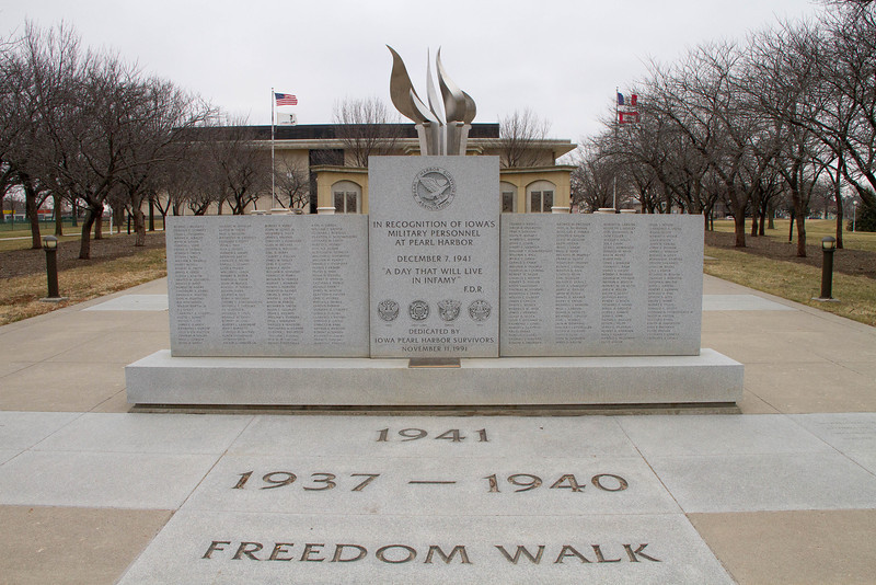 Day 11 - 11 January 2012<br /> Iowa Freedom Walk<br /> Memorial for Pearl Harbor
