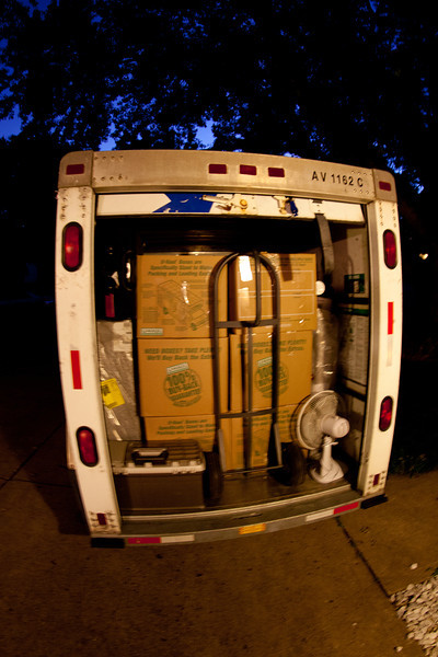 Day 230 - 17 August 2012<br /> Packing the U-Haul, its back to college for the kid.