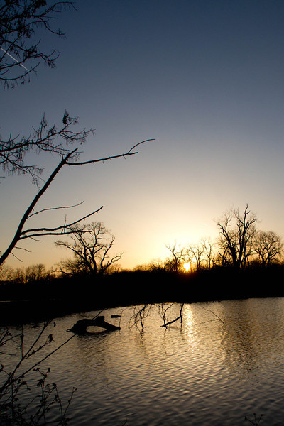 Day 58 - 27 February 2012<br /> Sunset over Waterwork's Park