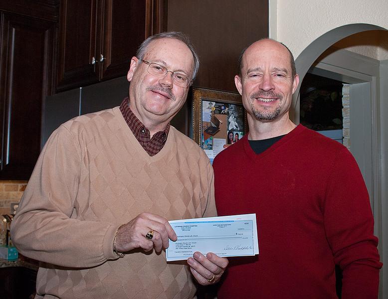 Pastor Nickel and Mike Landgraf