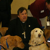 LCMS New England District President Rev. Timothy Yeadon with K-9 Comfort Dogs at Christ the King Lutheran Church, Newtown, Connecticut.