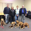 LCC Staff members (from left to right) Tim Kurth, Dona Martin, Lynn Buhrke, and Tim Hetzner.<br /> K-9 Comfort dogs (from left to right) Zippy, Ruthie, Chewie and Luther.