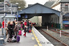 Passengers wait for the 1345 Tralee - Heuston to arrive into the station platform. Sun 09.12.12