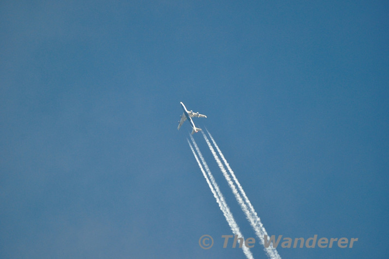 British Airways 747-436 G-CIVU flies over Leixlip at 32,000 feet with BA209 from London Heathrow to Miami. Sat 15.12.12