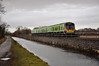 29024 crosses Ryewater Aquaduct with the 1345 Pearse - Maynooth. Sun 16.12.12