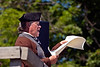 John Taylor Gilman reading the Declaration of Independence