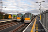 A full house at Athlone. From left to right is 2710 + 2709 which will later work the 1705 to Galway, 22038 departing with the 1505 Galway - Heuston and 22046 + 22001 waiting to depart with the 1430 Heuston - Galway. Sat 11.02.12