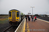 Passengers disembark from 2714 + 2726 at Limerick Jct. Sat 28.01.12