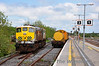 071 uses the rarely used run round loop in the Nenagh Bay Platform at Ballybrophy to run around the Weedspray Train. Wed 23.05.12