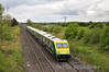 4006 passes Clonkeen with the 1130 Cork - Heuston. Unsilenced GM 220 was at the rear and made a nice throaty sound as it passed under the bridge. Tues 08.05.12